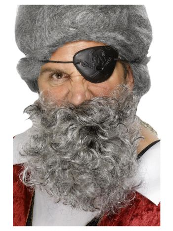 Deluxe Pirate Beard, Light Grey