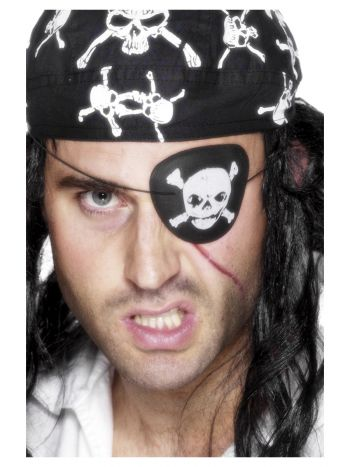 Pirate Eyepatch, Black & White