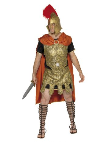 Deluxe Roman Soldier Costume, Gold