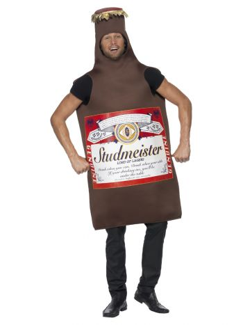 Studmeister Beer Bottle Costume, Brown