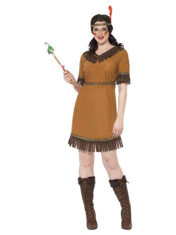 Native American Inspired Maiden Costume, Brown