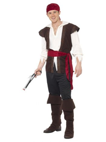 Pirate Costume, Brown