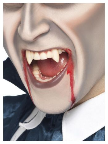 Smiffys Make-Up FX, Vampire Fang Tooth Caps, White