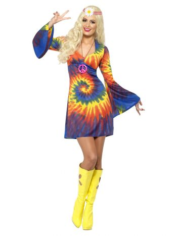 60s Tie Dye Costume, Psychedelic