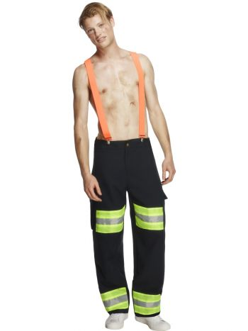 Fever Male Firefighter Costume, Blue
