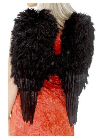 Feather Angel Wings, Black