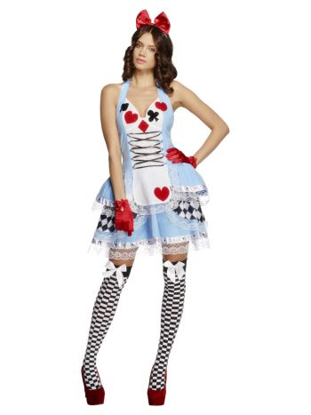Fever Miss Wonderland Costume, Blue