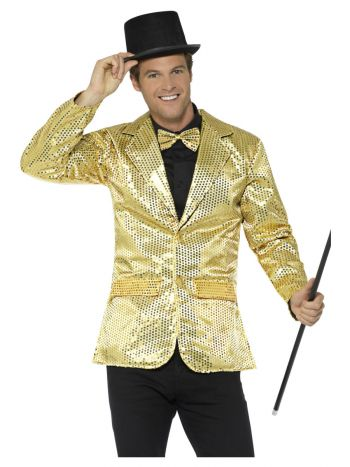 Sequin Jacket, Mens, Gold