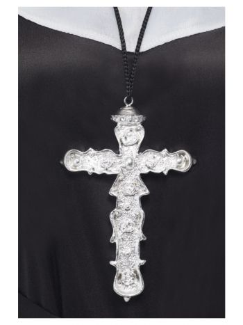 Ornate Cross Pendant, Silver