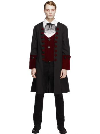 Male Fever Gothic Vamp Costume, Black