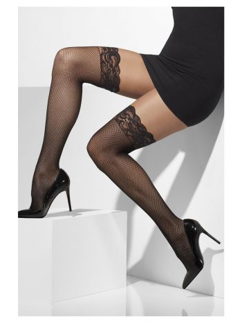 Fishnet Hold-Ups, Black