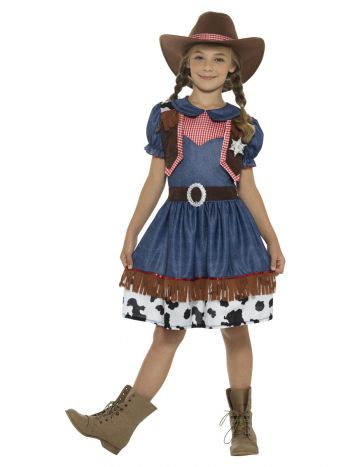 Texan Cowgirl Costume, Blue
