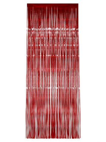 Shimmer Curtain, Red