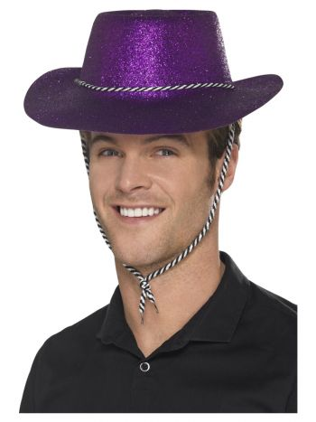 Cowboy Glitter Hat, Purple