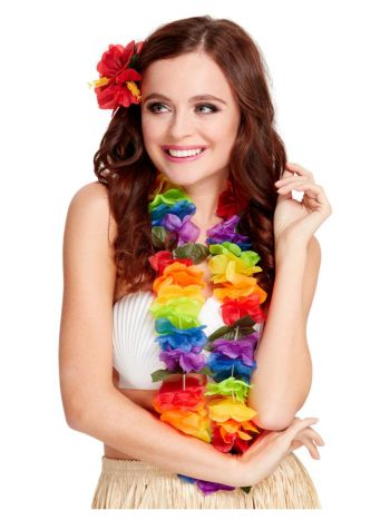 Bright Large Lei, Rainbow