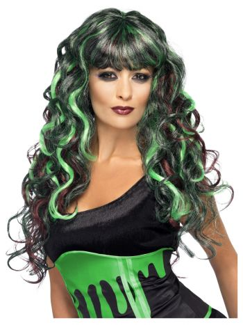 Monster Wig, Black & Green
