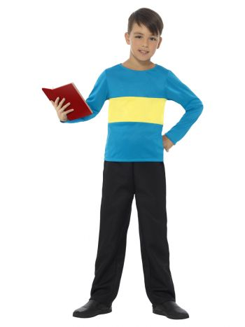 Jumper, Blue with Yellow Stripe, Blue & Yellow