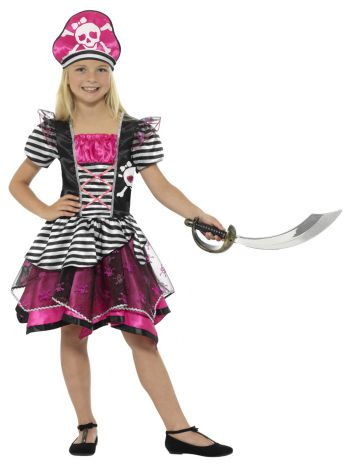 Perfect Pirate Girl Costume, Black & Pink