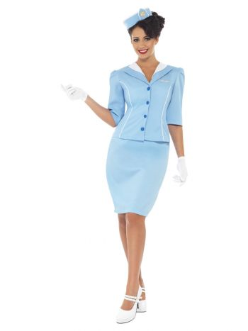 Air Hostess Costume, Blue