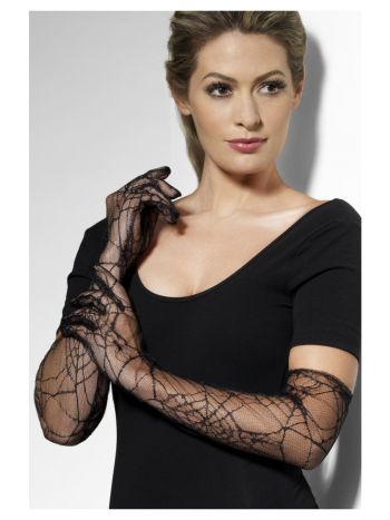 Lace Gloves, Black
