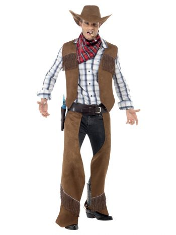 Fringe Cowboy Costume, Brown