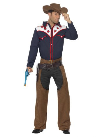 Rodeo Cowboy Costume, Blue