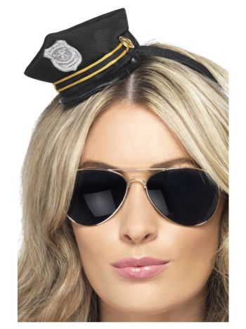 Mini Cop Hat, Black