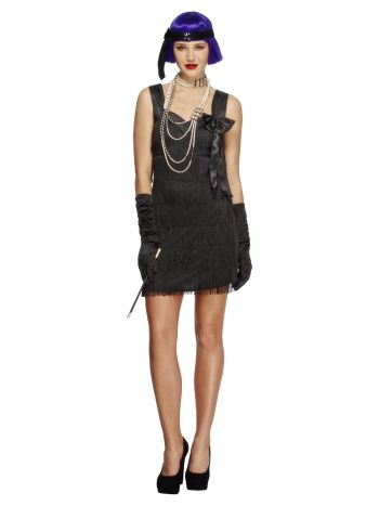 Fever Flapper Foxy Costume, Black