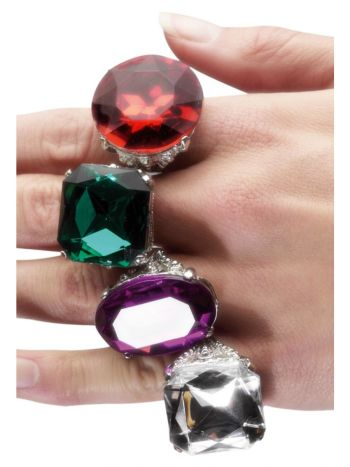 Assorted Colourful Jewel Rings