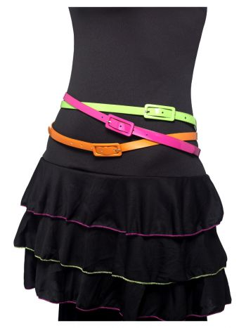 Neon Belts, Neon Multi-Coloured