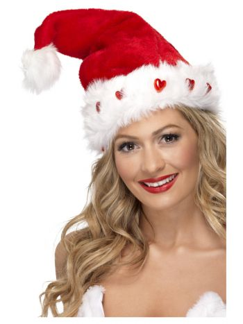 Light Up Santa Hat, Red