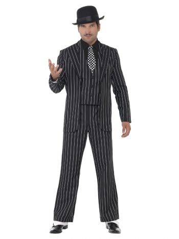 Vintage Gangster Boss Costume, Black