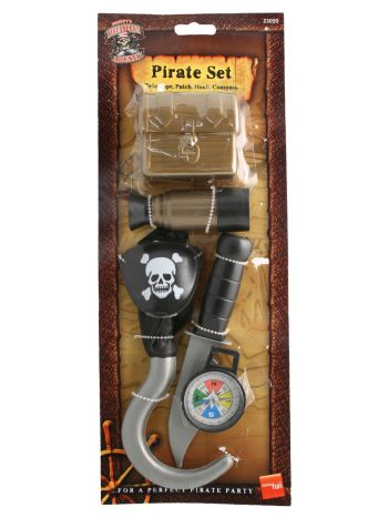Pirate Set with Compass, Brown
