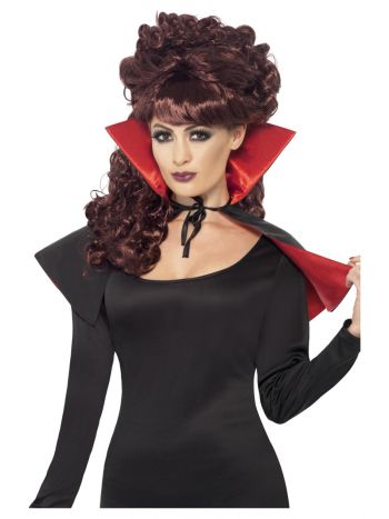 Mini Vamp Cape, Black & Red