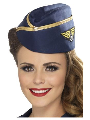 Air Hostess Hat, Blue