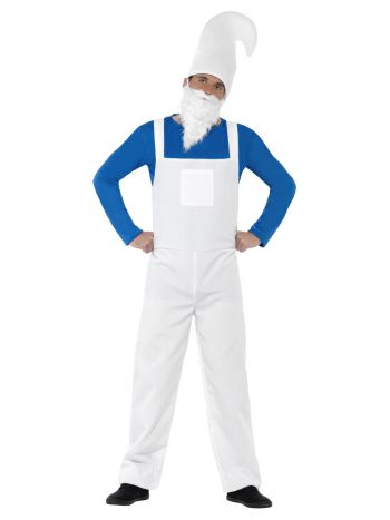 Garden Gnome Costume, Male, Blue & White