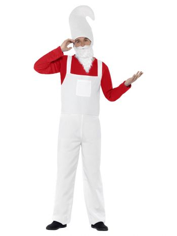 Garden Gnome Costume, Male, Red & White