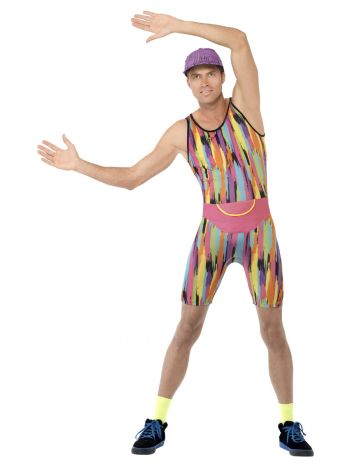Aerobics Instructor Costume, Multi-Coloured