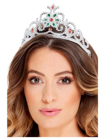 Flower Jewelled Tiara, Silver