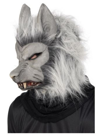 Werewolf Latex Mask, Grey