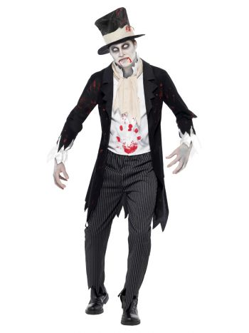 Till Death Do Us Part Zombie Groom Costume, Black