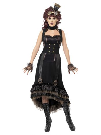 Steam Punk Vamp Costume, Black