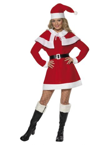 Miss Santa Fleece Costume, Red
