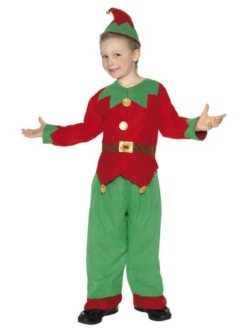 Elf Costume, Red & Green