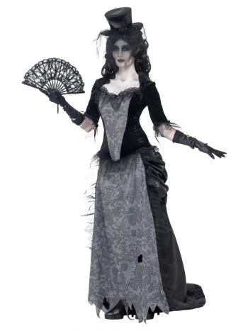 Ghost Town Black Widow Costume, Grey
