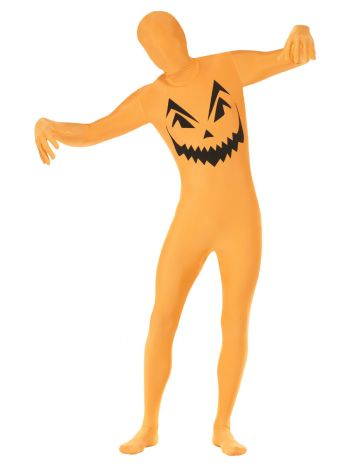 Pumpkin Second Skin Costume, Orange