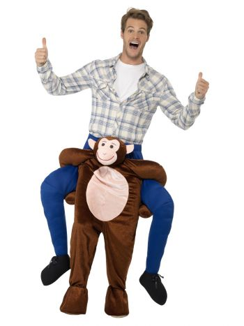Piggyback Monkey Costume, Brown
