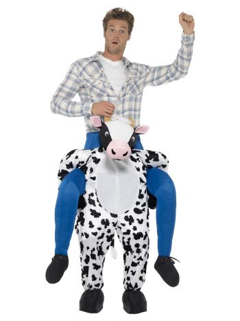 Piggyback Cow Costume, Black