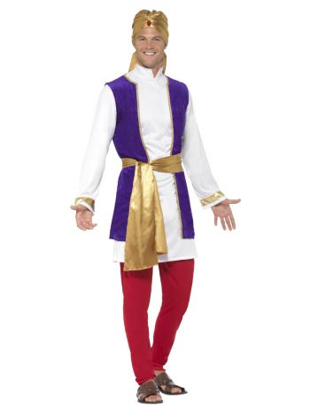 Arabian Prince Costume, Multi-Coloured