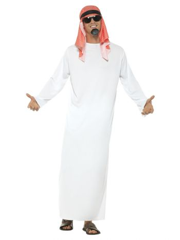 Fake Sheikh Costume, White